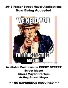 Fraser Stree Mayor